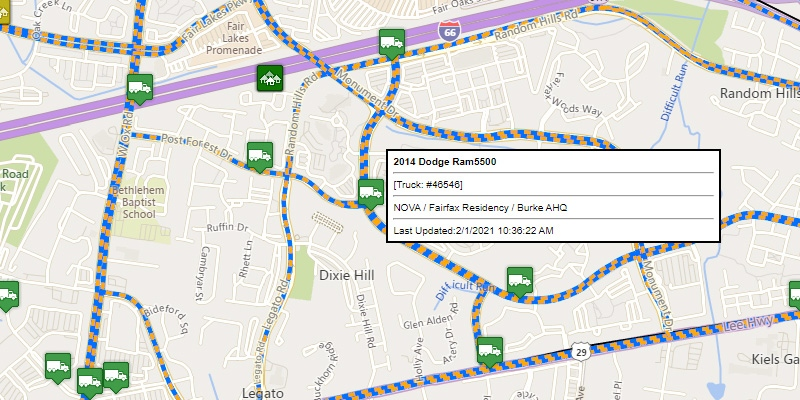 VDOT Snow Plowing Map