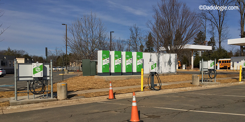 FCPS Thomas Electric Bus Charging Station