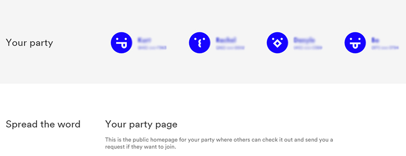 Find a Visible Party Pay group
